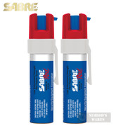 Sabre PEPPER GEL 2-PACK 12 ft. Range 35 Bursts Self-Defense SABP-22G-USA