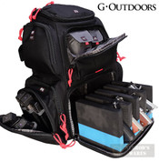 G-Outdoors HandGunner RANGE BACKPACK 4 pistols 6 Mags and More GPS-1711BP