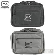 TWO GLOCK Double Pistol RANGE BAGS Dual-Compartment BLACK + GRAY OEM AP60242 AP60301
