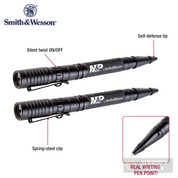 S&W Delta Force PL-10 TACTICAL PEN + FLASHLIGHT 2-PACK Self-Defense 110155