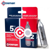 Crosman POWERLET CO2 CARTRIDGES 5-Count 12g Airgun Airsoft 231B