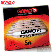 GAMO CO2 CARTRIDGES 5-Pk 12g Airgun Airsoft 621247054