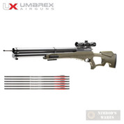 Umarex AIRSABER Air Archery Arrow AIRGUN w/ SCOPE + 3 Extra Arrows 450fps 2252660