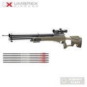 Umarex AIRSABER Air Archery Arrow AIRGUN w/ SCOPE + 3 Extra Arrows 450fps 2252660