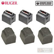 Ruger 10/22 BX-1 .22LR 10 Round MAGAZINES + DUST COVERS 3-Pk 90451 90403