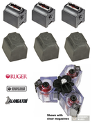 Ruger 10/22 BX-1 .22LR 10 Round MAGAZINES + DUST COVERS 3-Pk + Alangator TRIMAG Clip Connector 90451 90403 TM1