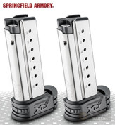 Springfield XD-S 9mm 8 Round MAGAZINE 2-PACK w/ X-Tensions XDS0908