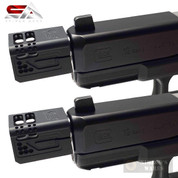 Sylvan GLOCK 9mm COMPENSATOR 2-PACK 1/2x28 Reduce Recoil + Flip SAGC9