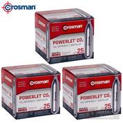 Crosman POWERLET CO2 CARTRIDGES 75-Count 12g Airgun Airsoft 2311