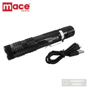 Mace Compact STUN GUN + FLASHLIGHT + Clip + USB SELF-DEFENSE 80534