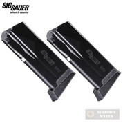 Sig P365 9mm 10 Round MAGAZINE + Finger Extension 2-PACK MAG-365-9-10X