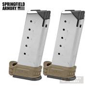 Springfield XDS XD-S .45 ACP 6 Round MAGAZINE 2-PACK FDE Extension XDS5006DE