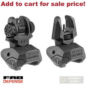 FAB Defense FRONT & REAR SIGHTS SET Flip-Up 1913 Picatinny FX-FRBSKIT - Add to cart for sale price!