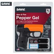Sabre Aim & Fire PEPPER GEL Gun 15 ft 13 Bursts Self-Defense SDP-G-03