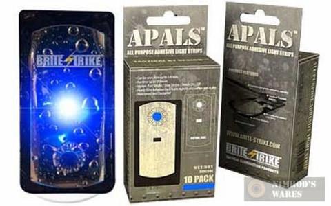 """BRITE-STRIKE APALS10-BLU """"GEN4"""" Adhesive Light Strips BLUE x 10"""