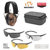 WALKER's RAZOR EARMUFFS + Birchwood SHOOTING GLASSES + Walker's CASE GWP-RSEM-BARM 43453 GWP-MSGSC