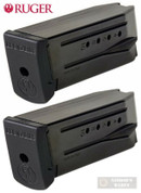Ruger SR9c 9mm 10 Round MAGAZINE 2-PACK w/ Ext. Made in ITALY 90369