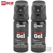 MACE PepperGEL Night Defender 2-PACK 18ft RANGE 20 Bursts LED Light 45gm 80352 80817