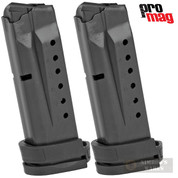 ProMag S&W M&P Shield 9mm 8 Round MAGAZINE 2-PACK Extended SMI27