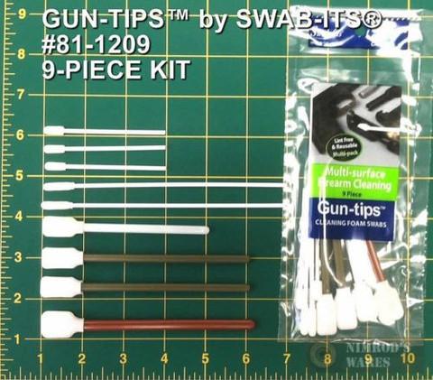 Swab-Its 81-1209 Assorted 9-Piece Firearm Cleaning Kit Gun-tips