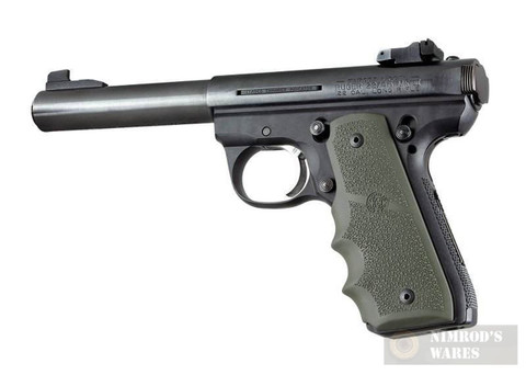 Hogue Ruger 22/45 Wraparound Grip w/ Grooves OD Green 82081