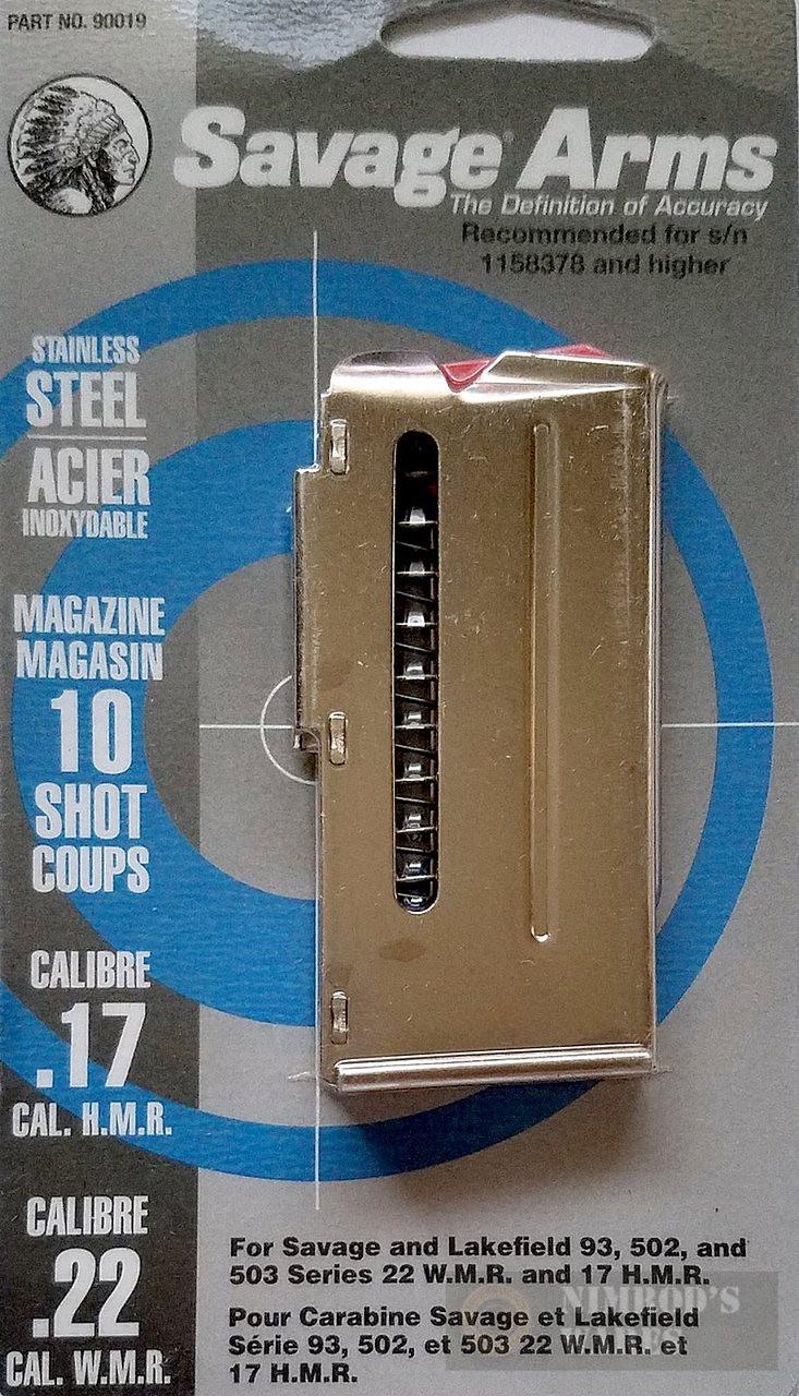 Savage 93 305 310 502 503 Ser  22WMR 17HMR 10 Round Magazine 90019