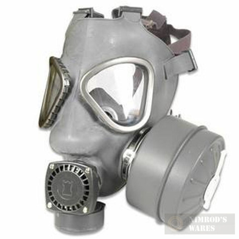 Mil-Surplus Finnish Gas Mask + Nuclear Biological Chemical Suit MED/Gloves/Bag