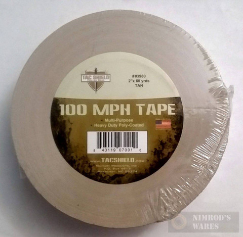 TAC SHIELD 100MPH Heavy Duty Tactical TAPE 60yds TAN 03980