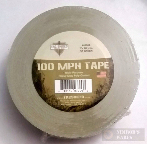TAC SHIELD 100MPH Heavy Duty Tactical TAPE 60yds OD 03981
