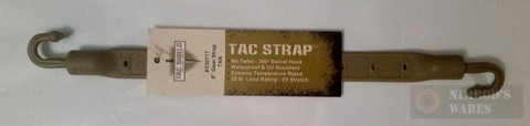 "Tac Shield 100% Stretch TAC Gear Strap 30lb Strength 8"" BLK 03071T"