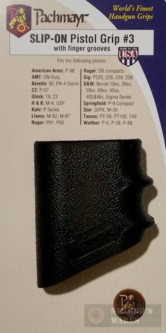 Pachmayr 05108 Model #3 Slip-On Grip Glove for MEDIUM Pistols