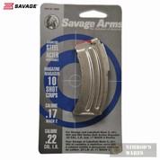 SAVAGE 90008 MKII/900 Series/17 Mach 22LR 10 Round Magazine
