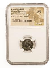 NGC Roman AE2 of Valentinian II AD375-392 F