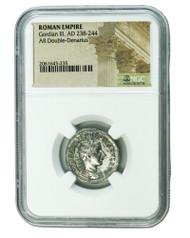 Roman Silver Antoninianus of Gordian III (AD 238-244) NGC (High grade)