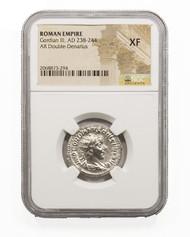 Roman Silver Antoninianus of Gordian III (AD 238-244) NGC (XF)