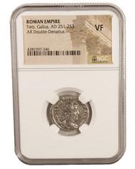 Roman AE Antoninianus of Trebonianus Gallus (AD 251-253) NGC (VF)