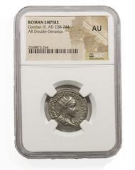 Roman Silver Antoninianus of Gordian III (AD 238-244) NGC (AU)