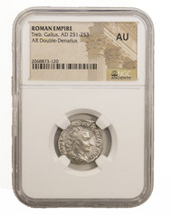 Roman AE Antoninianus of Trebonianus Gallus (AD 251-253) NGC (AU)
