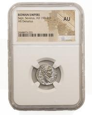 Roman Silver Denarius of Septimius Severus (AD 193-211) NGC (AU)