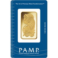 1 oz PAMP Suisse Fortuna Veriscan Gold Bar (New w/ Assay)