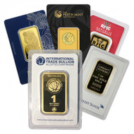 1 oz Gold Bar (Brand Varies, .999+)