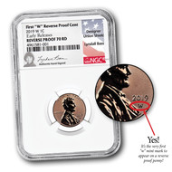 2019-W Reverse Proof Lincoln Cent NGC REV PF70 RD UCAM Early Releases Lyndall Bass Signed