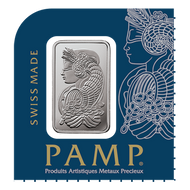 1 gram Platinum Bar PAMP Suisse Lady Fortuna .9995 Fine (In Assay from Multigram+25)