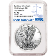 2019 $1 Burnished Silver Eagle NGC MS70 Early Releases