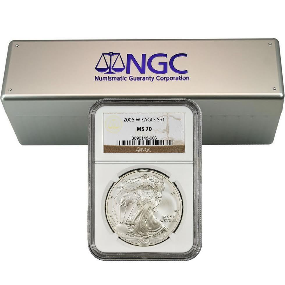 2006-W Burnished Silver Eagle NGC MS70