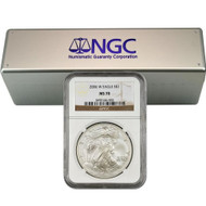 2006-2018 Complete Burnished Silver Eagle Set NGC MS70