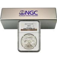 2006-2019 Complete Burnished Silver Eagle Set NGC MS70