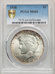 1928 S$1 Peace Dollar PCGS MS65