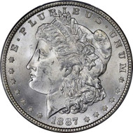 1887 Morgan Silver Dollar Brilliant Uncirculated - BU