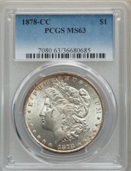 1878-CC S$1 Morgan Dollar PCGS MS63 - 297317012